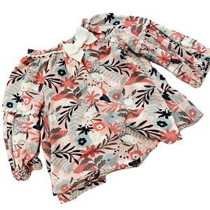 Tommy Bahama Pink Floral Print Swing Blouse